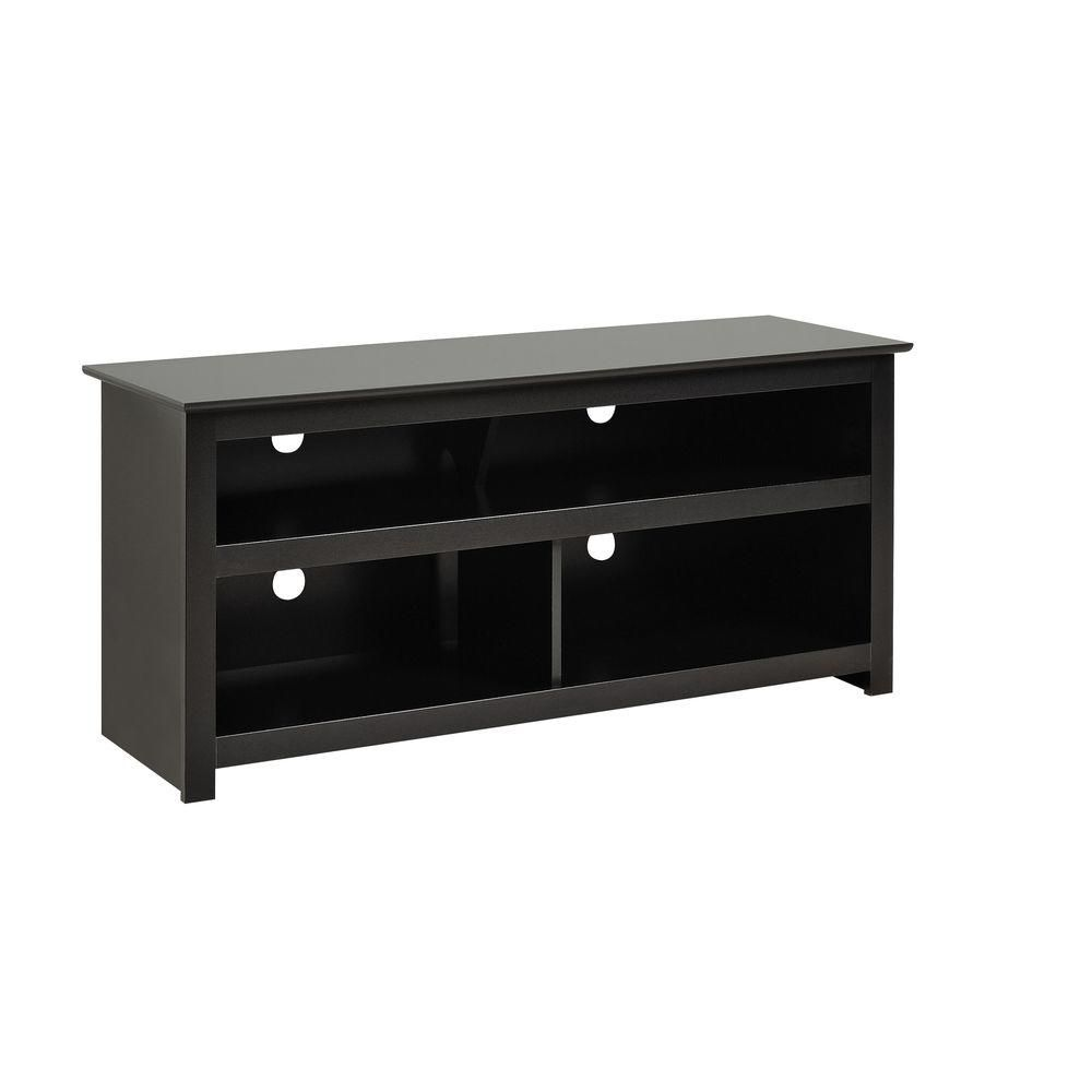 prepac meuble vasari pour t l viseur cran plat plasma ou acl noir the home depot canada. Black Bedroom Furniture Sets. Home Design Ideas