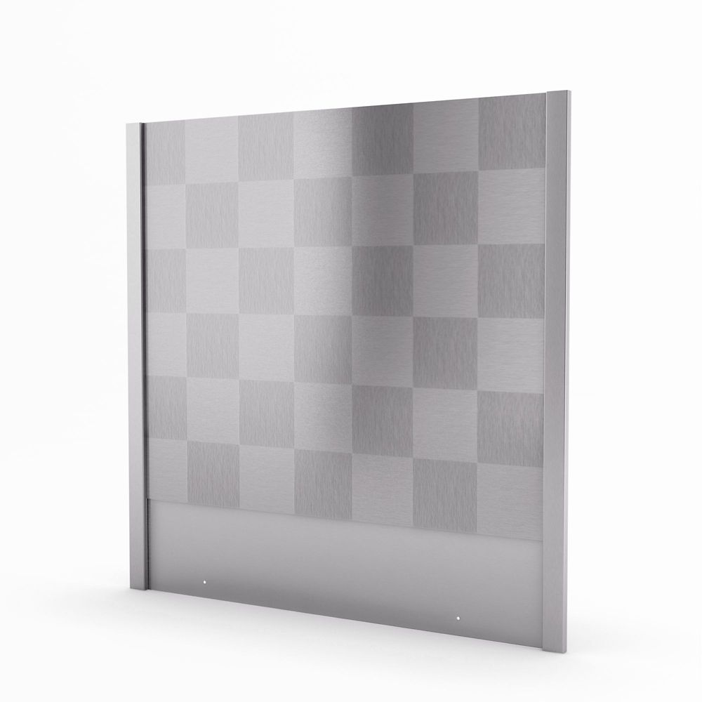 Cube Real Stainless Steel Backsplash 30 Inches