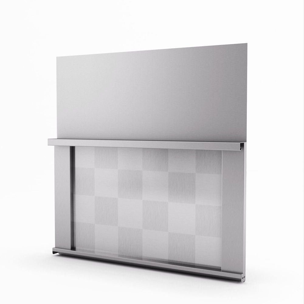 Omega Real Stainless Steel Backsplash 30 Inches