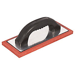HDX 4-1/2 in. Red Rubber Concrete and Plaster Grout Float