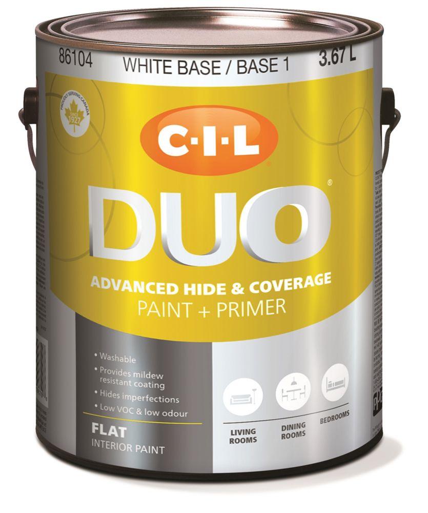 Peinture dintérieur CIL DUO fini mat - Base blanche / Base 1, 3,67 L
