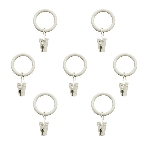 Clip Rings (7-Pack) In White