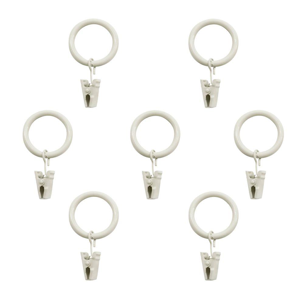 Clip Rings (PK of 7) In White