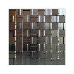 Inoxia Speedtiles Loft Self Adhesive Mosaic Metal Tile