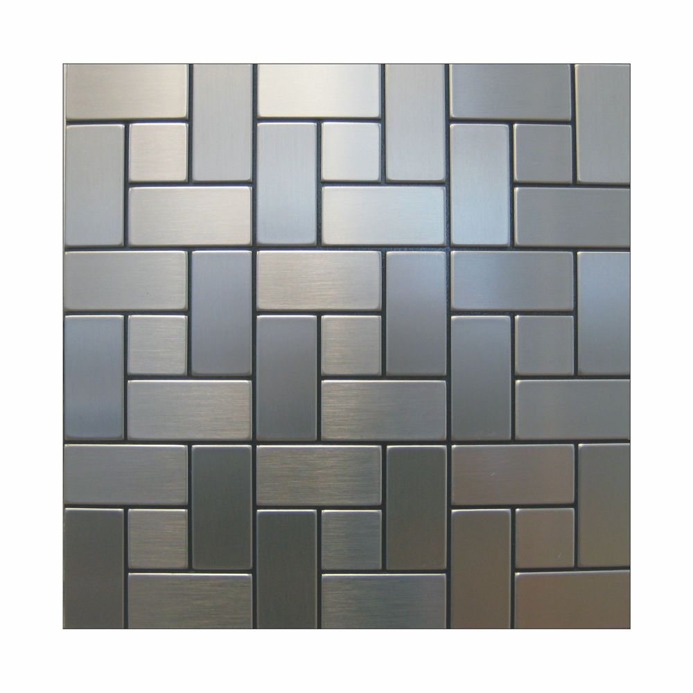 Self Stick Metal Backsplash Tiles Home Depot Metal Tile: Inoxia Speedtiles California Mosaic Self Adhesive Metal