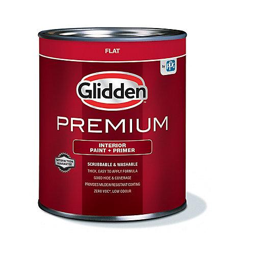 Premium Interior Paint + Primer Flat White 925 mL