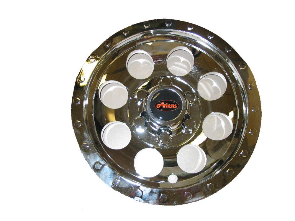 Emballage de deux (2) enjoliveurs de roues chromés de 20cm (8po) pour tracteurs à gazon Zoom 34