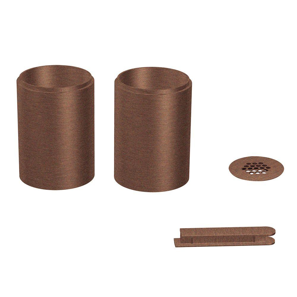 Trousse de rallonge de lavabo de surface, bronze huilé