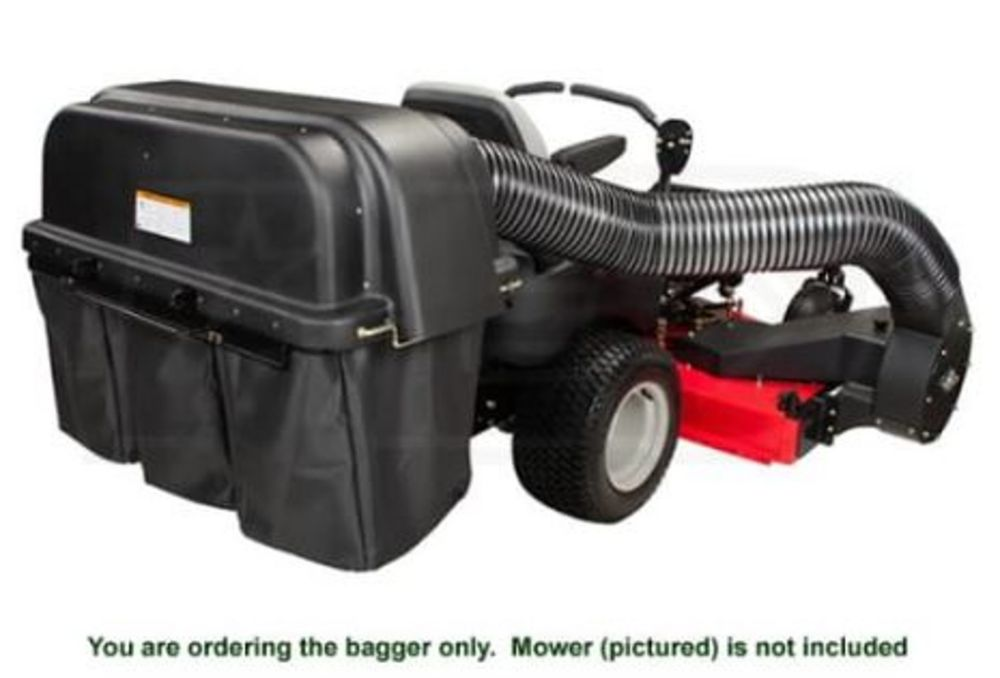 60-inch Powered Bagger for Max Zoom Zero-Turn Riding Mowers