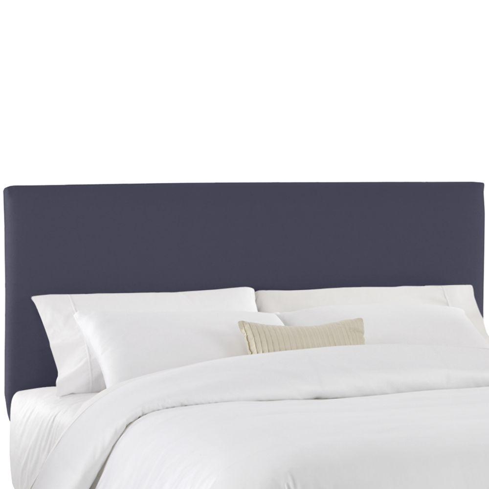 Housse pour tête de lit jumeau en tissu de ton bleu marine