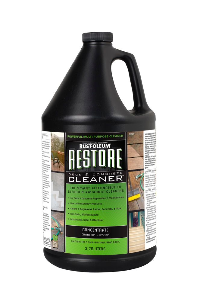Deck And Concrete Cleaner Of Restore Restore Deck Concrete Cleaner The Home Depot