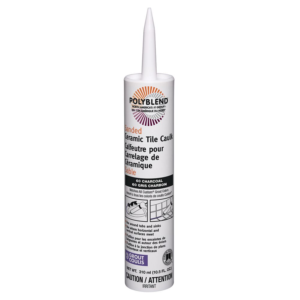 Sanded Ceramic Tile Caulk #60 Charcoal 310 ml (10.5 fl. oz.) CPC6010S-6 Canada Discount