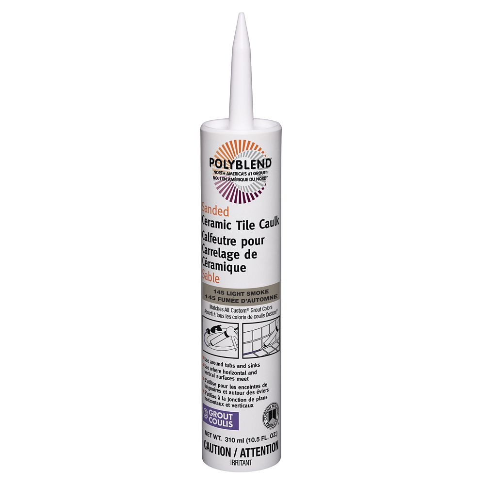 Sanded Ceramic Tile Caulk #145 Light Smoke  310 ml (10.5 fl. oz.)