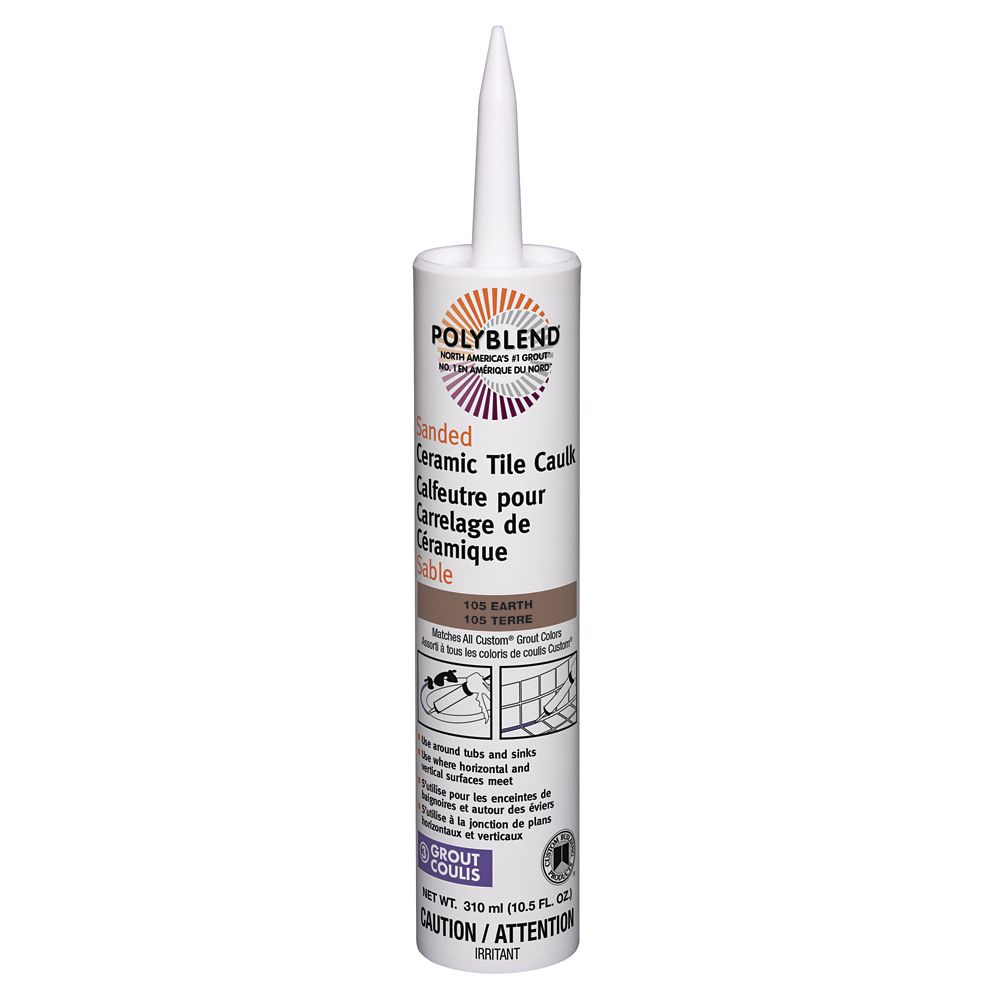 Sanded Ceramic Tile Caulk #105 Earth  310 ml (10.5 fl. oz.)