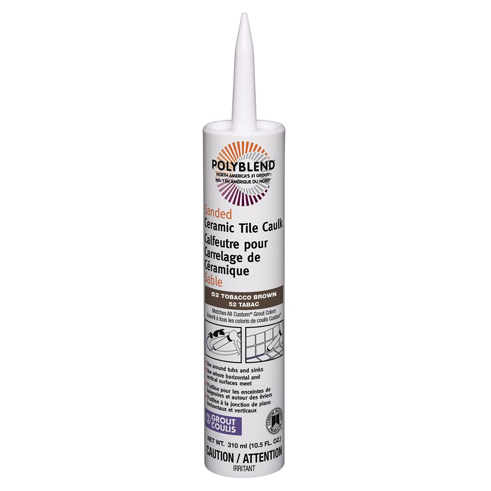 Sanded Ceramic Tile Caulk #52 Tobacco  310 ml (10.5 fl. oz.)