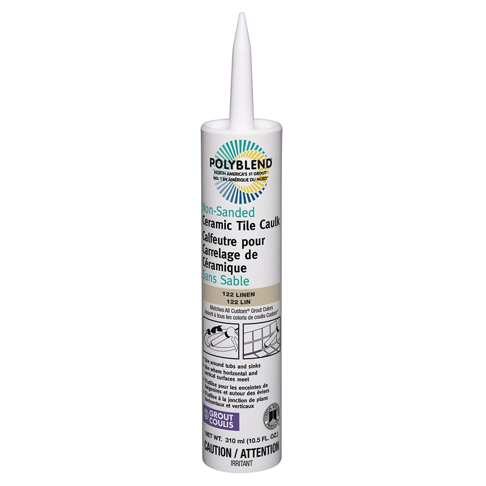 Non-Sanded Ceramic Tile Caulk #122 Linen 310 ml (10.5 fl. oz.) CPC12210N-6 Canada Discount