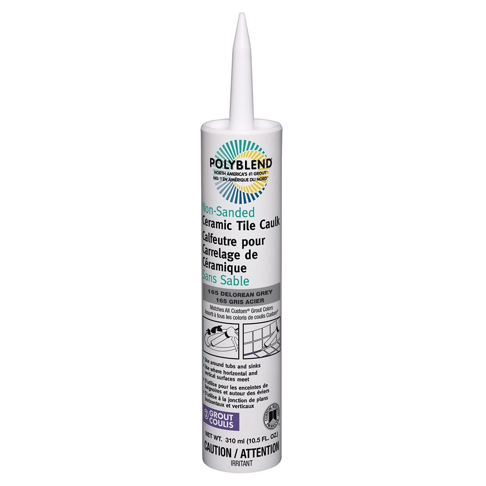 Non-Sanded Ceramic Tile Caulk #165 Delorean Grey  310 ml (10.5 fl. oz.)