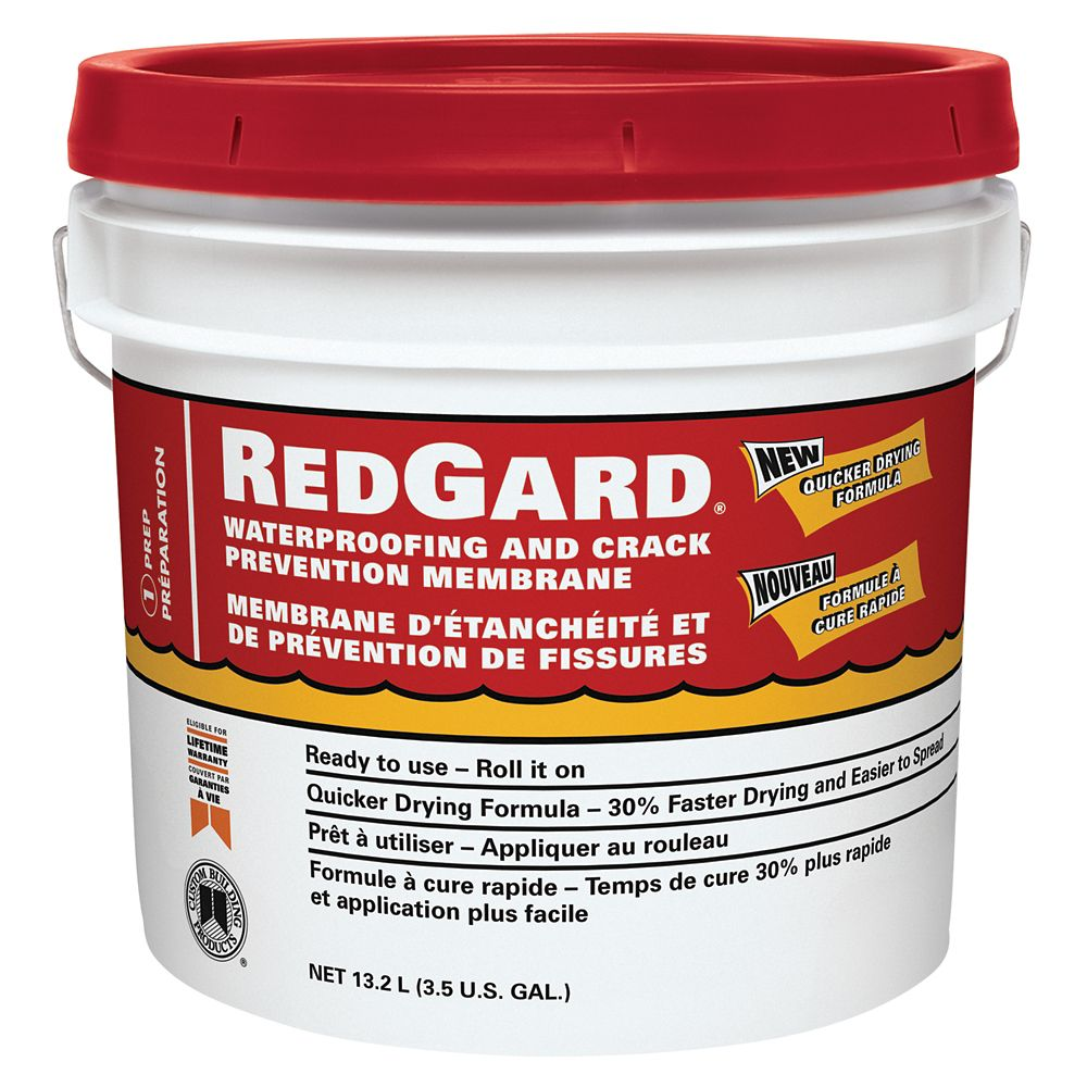 Redgard Waterproofing And Crack Prevention Membrane 3.5 Gal