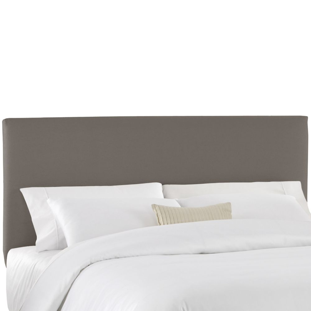 Housse pour tête de grand lit en tissu gris