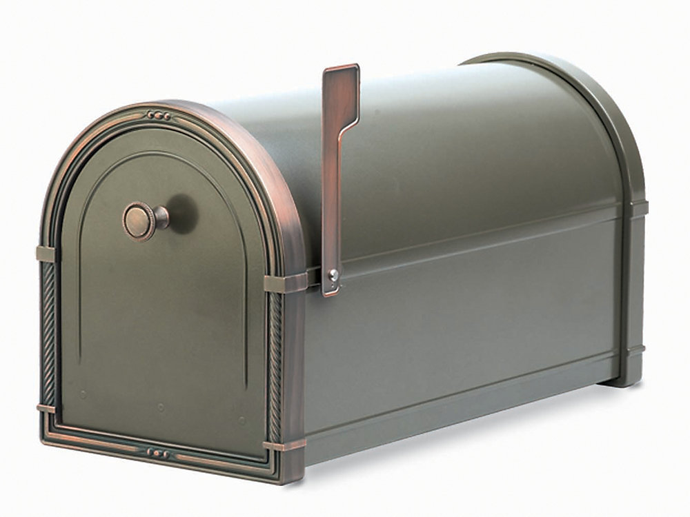 Architectural Mailboxes Bronze Coronado Post Mount Mailbox