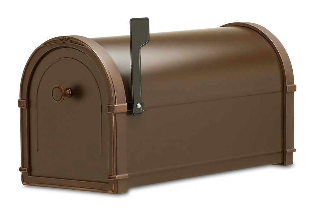 Oil Rubbed Bronze Bungalow Post Mount Mailbox