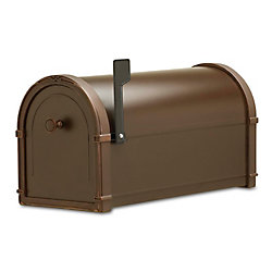 Architectural Mailboxes Oil Rubbed Bronze Bungalow Post Mount Mailbox