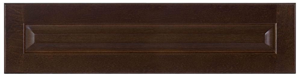 Facade de tiroir en bois Naples 36 po x 7,5 po Choco