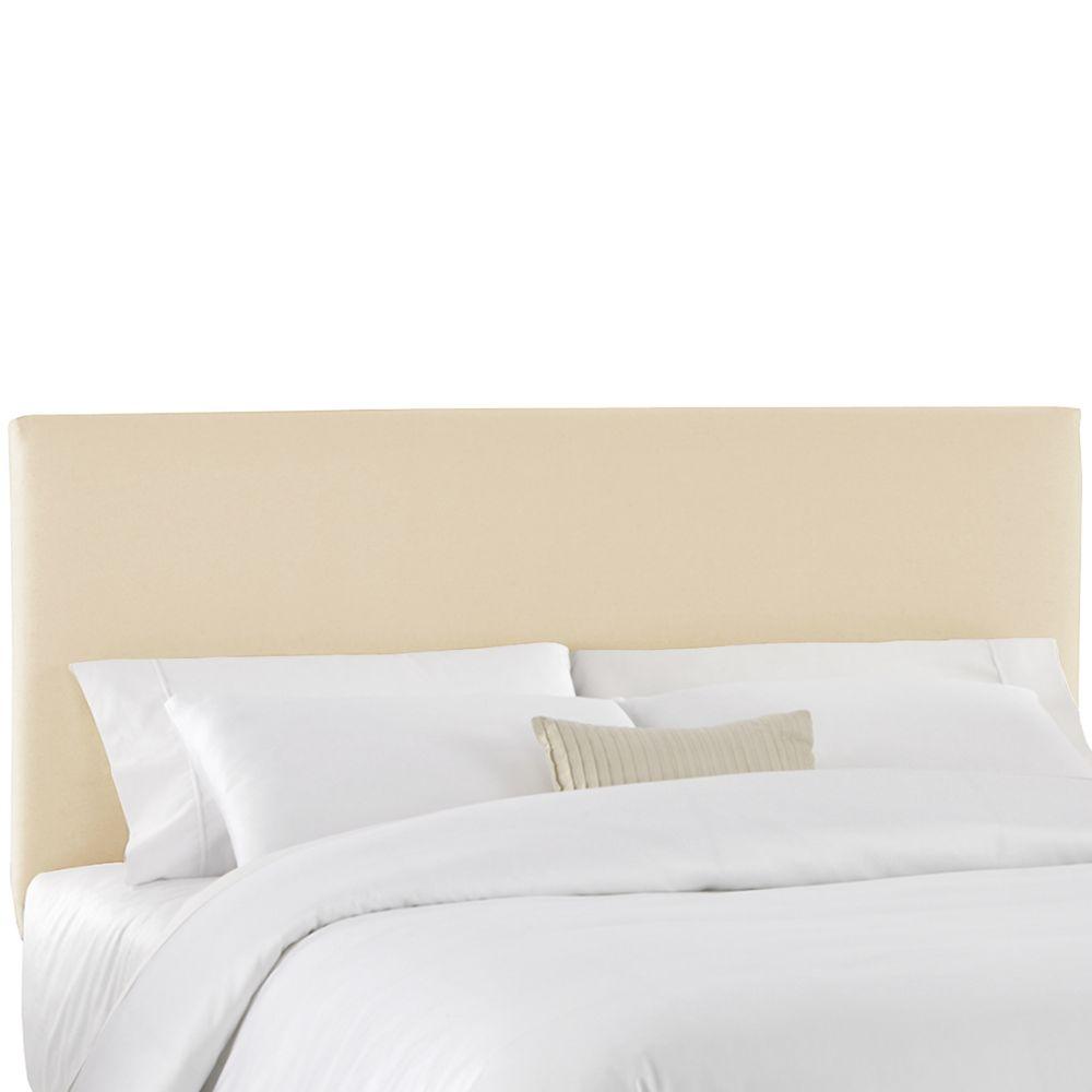 Housse pour tête de très grand lit en tissu naturel