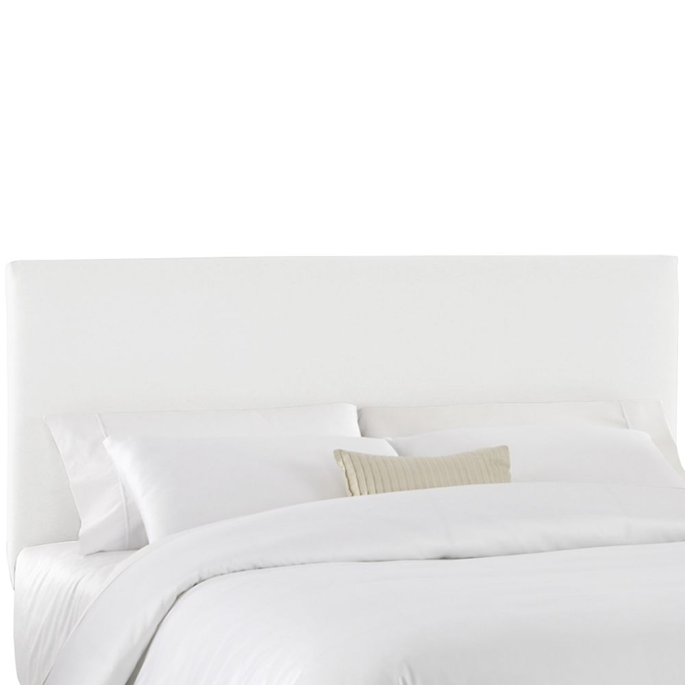 California King Slip Cover Headboard in White