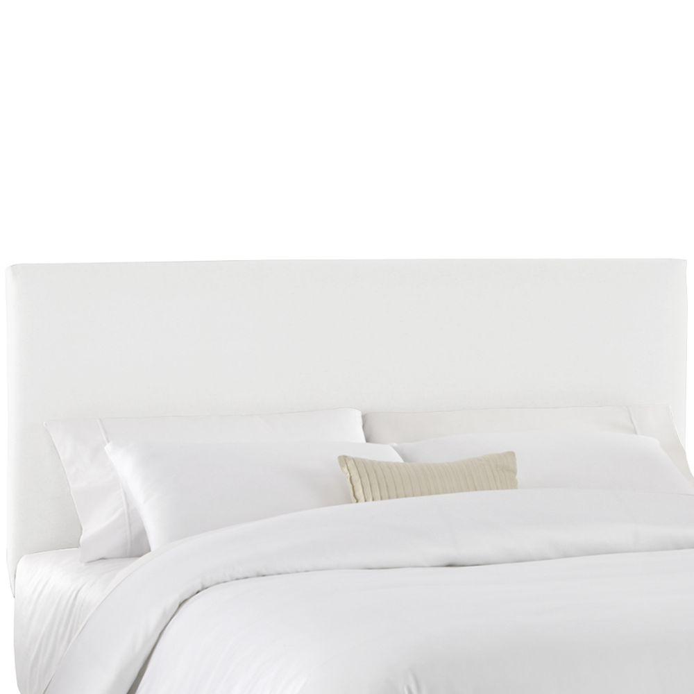 Housse pour tête de grand lit en tissu blanc