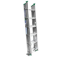 Werner Échelle de 16 pi en aluminium à 3 petites sections pouvant supporter 225 livres. (Catégorie d'usage: Type II)