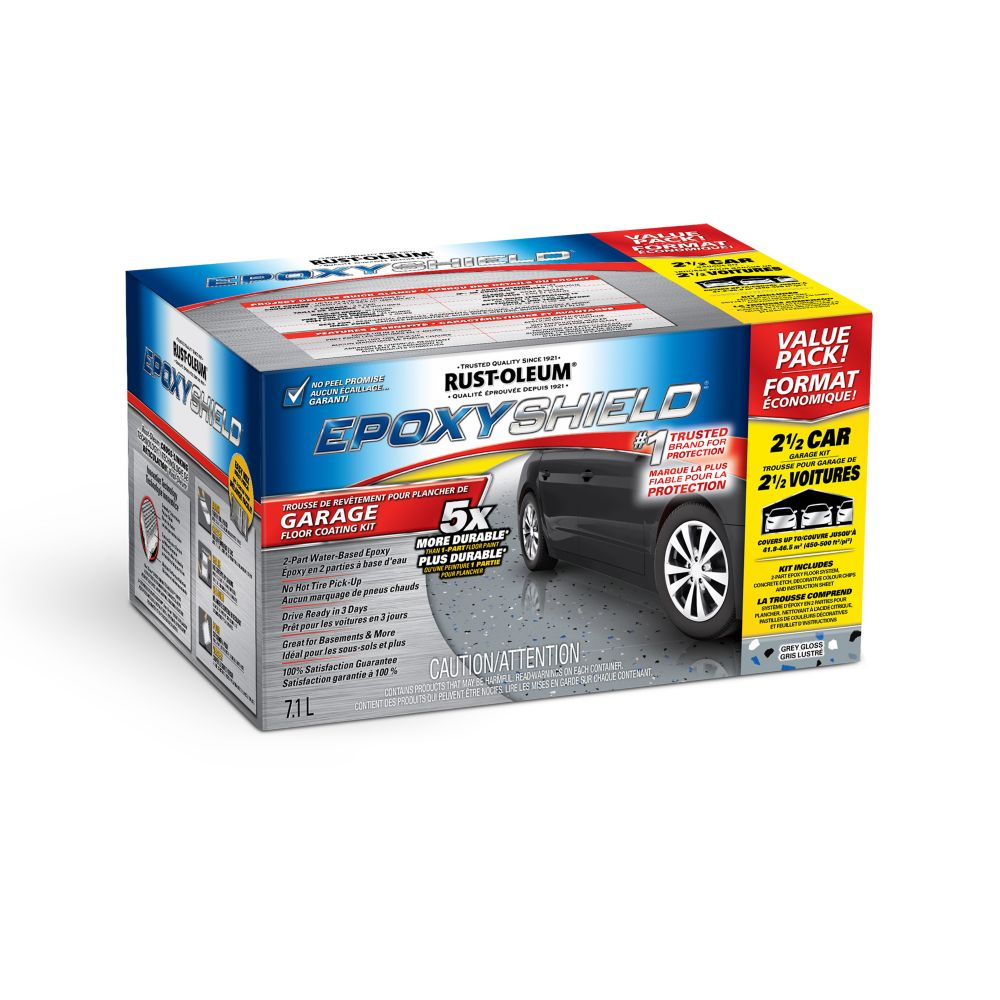 Epoxy Garage Floor Kit Grey 2.5 Car