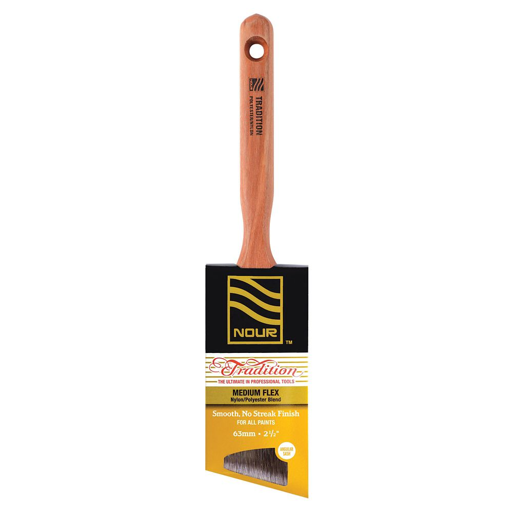 Tradition 2.5 Inches  Poly/Nylon Ang. Brush