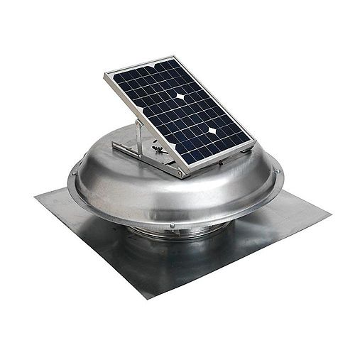 Master Flow 500 CFM Solar Powered Roof Mount Exhaust Fan
