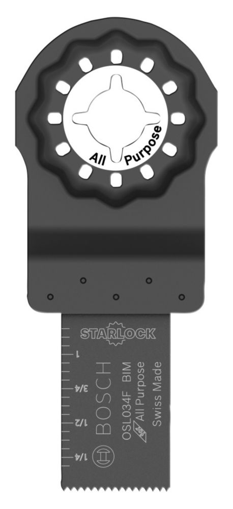 Lame bimétallique de coupe en plongée 3/4 po x 1 1/4 po multi-outils