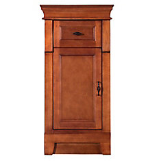 Naples 16 3/4-inch W x 14-1/2-inch D x 34-inch H Bathroom Linen Cabinet in Warm Cinnamon