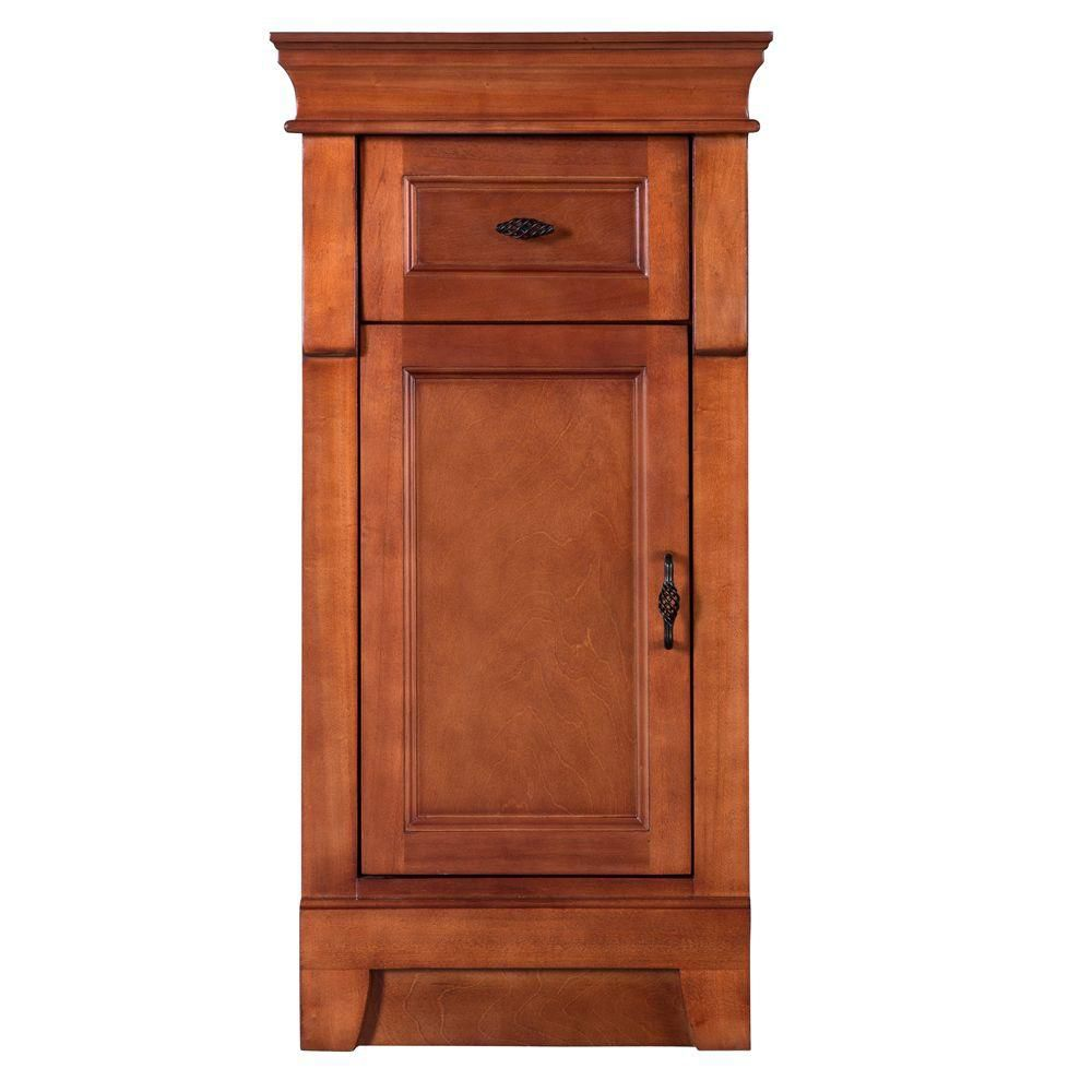 Foremost International Naples 16 3/4-inch W x 14-1/2-inch D x 34-inch H Bathroom Linen Cabinet in Warm Cinnamon