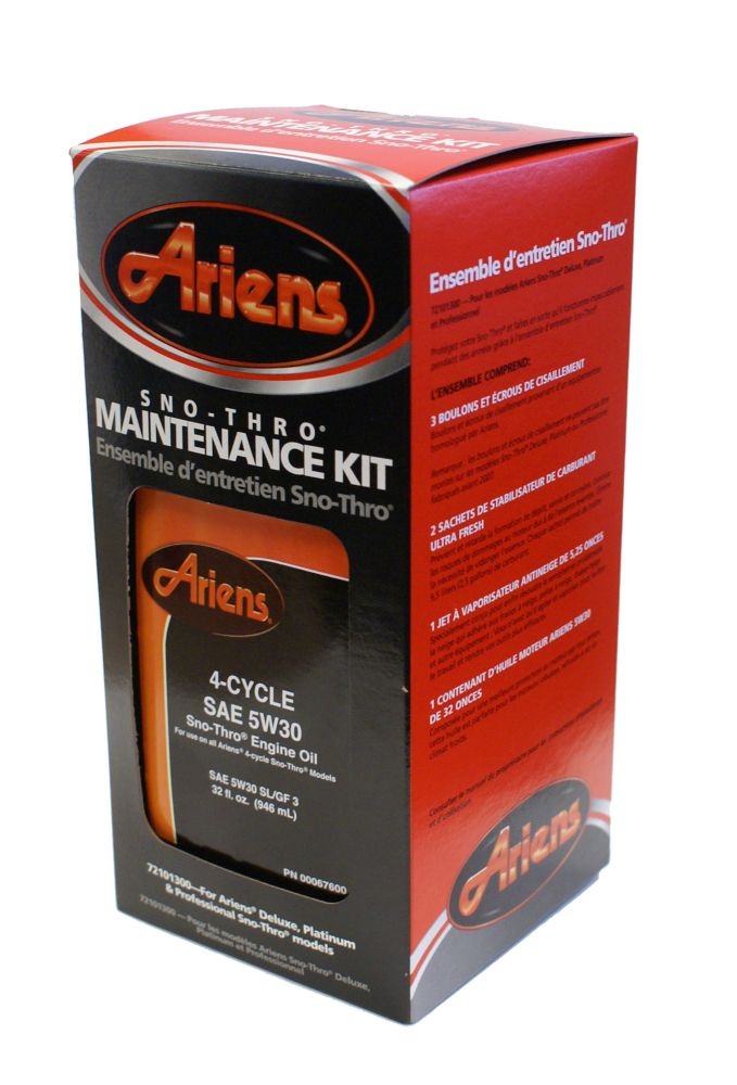 Sno-Thro Maintenance Kit for Deluxe, Platinum and Professional Models