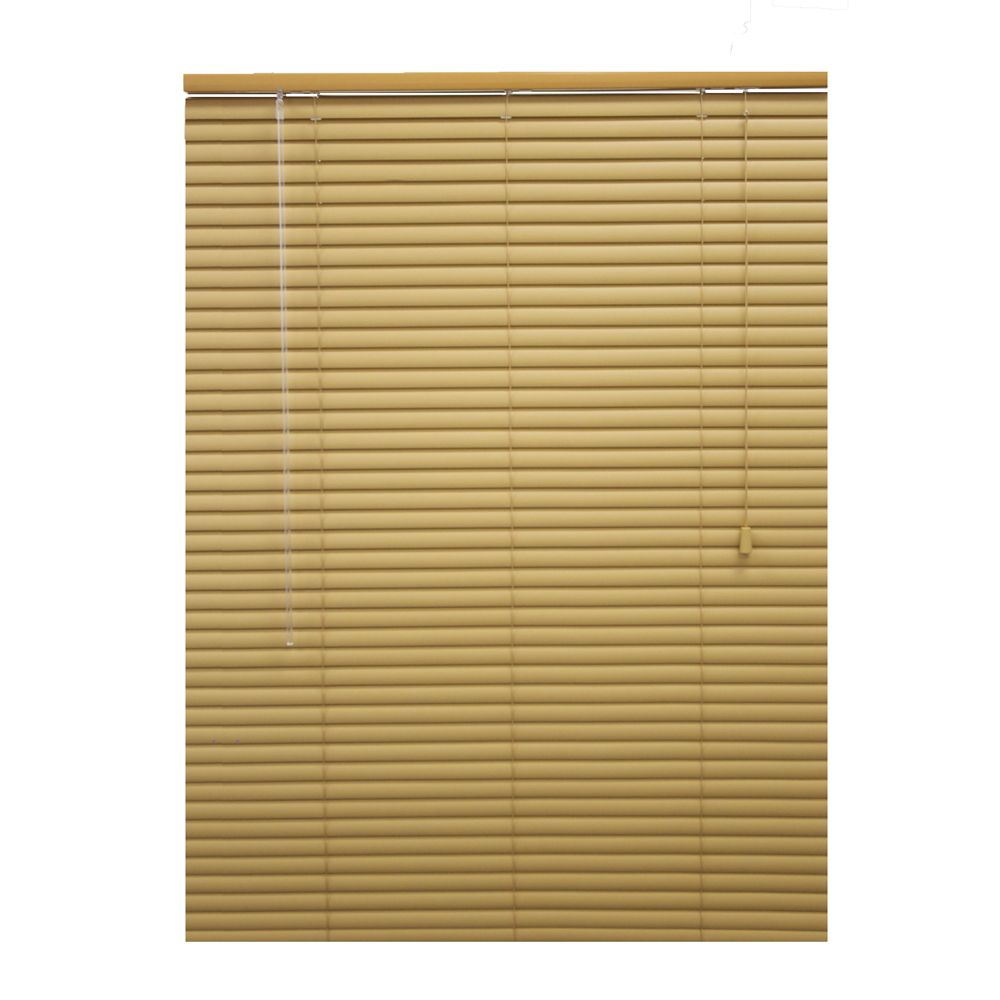 30x72 Khaki 1 3/8 in. Premium Vinyl Blind (Actual width 29.5 in.)