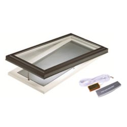 Columbia Skylights 2 ft. x 4 ft. Deluxe Curb Mount Venting Electric Clear Glass Skylight - ENERGY STAR®
