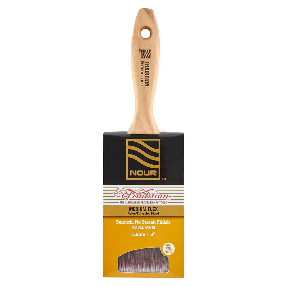 "Nour Tradition 3"" Poly/Nylon Wall Brush"