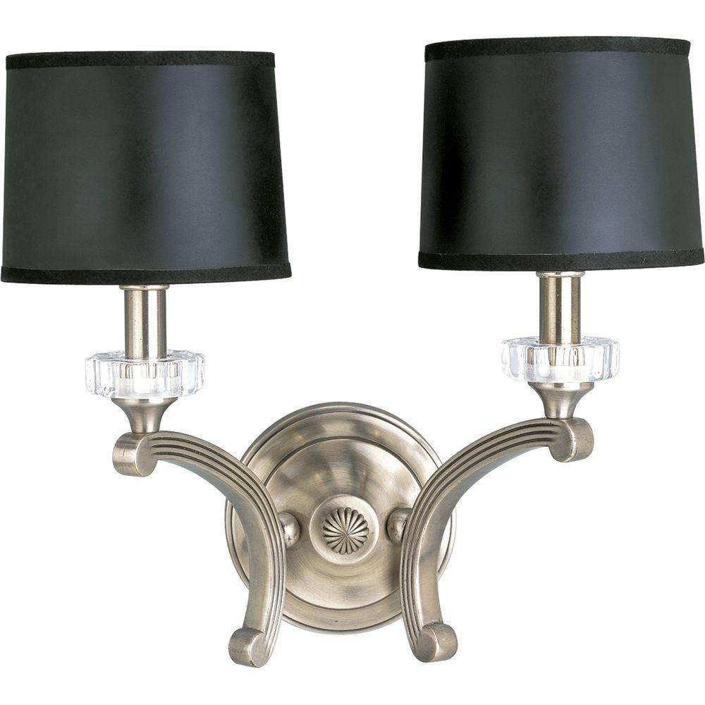 Roxbury Collection Two-Light Wall Sconce in Classic Silver