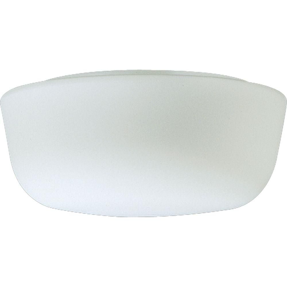 Swirled Glass Collection White Two-Light Close-to-Ceiling