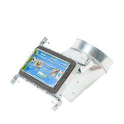 Speedi-Boot Bouche d'aération avec registre à 90 degrés et fixations réglables pour conduit de CVCA 4 po x 10 po x 6 po