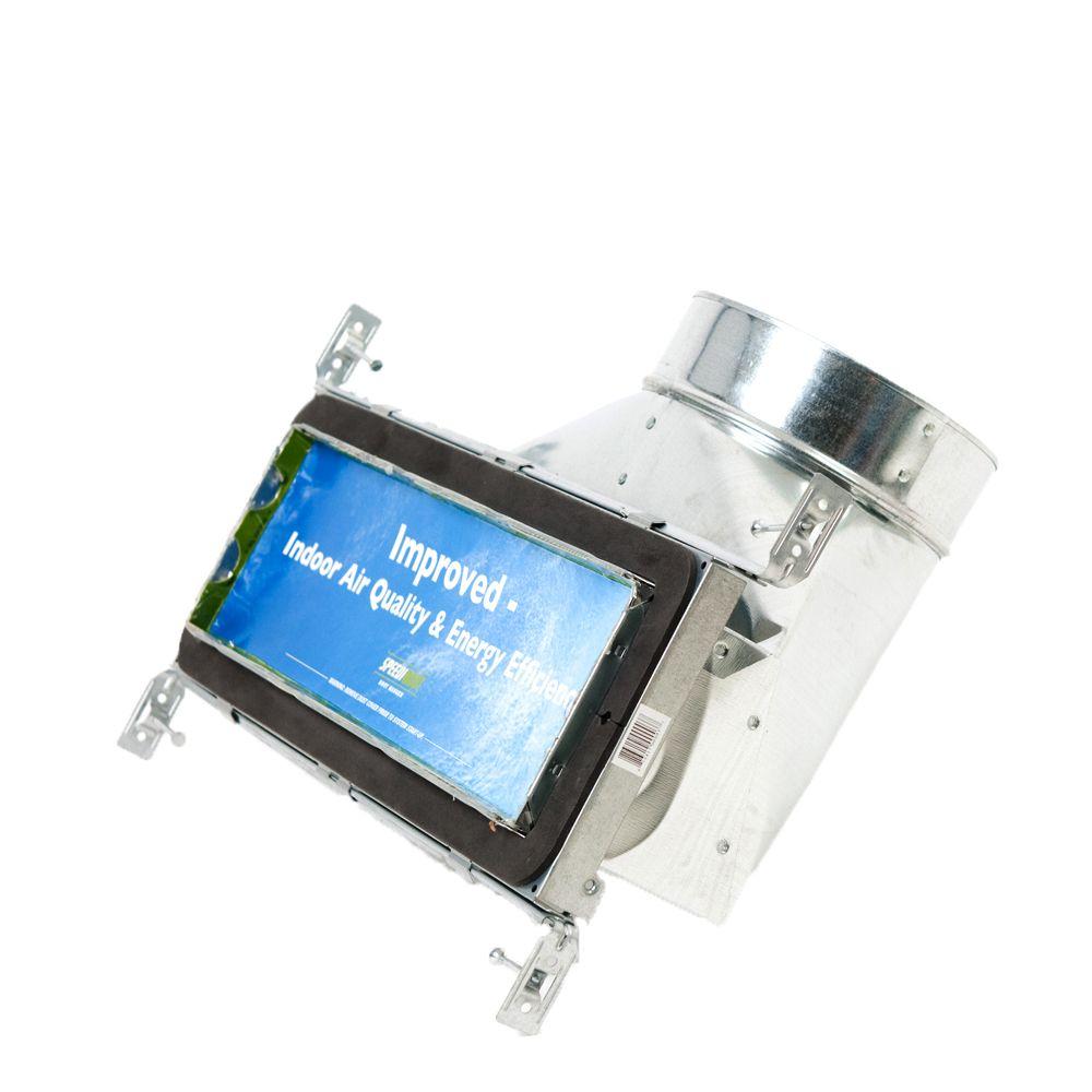 Bouche d'aération avec registre à 90 degrés et fixations réglables pour conduit de CVCA 4 po x 14...