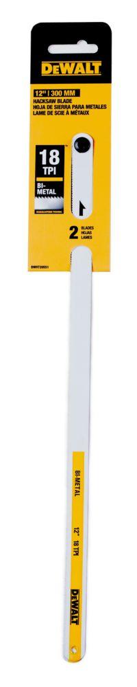 2pk 12 Inch  18tpi Hacksaw Blades