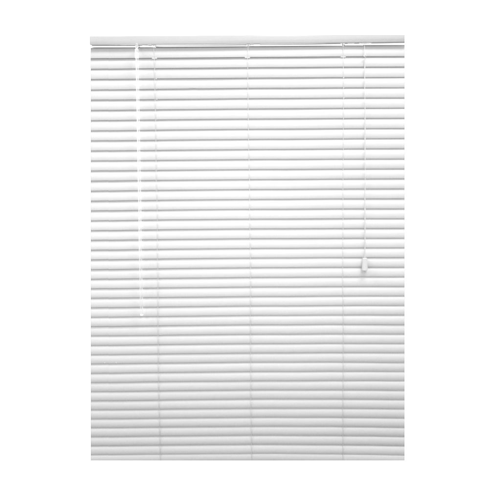 30x72 White 1 3/8 in. Premium Vinyl Blind (Actual width 29.5 in.)