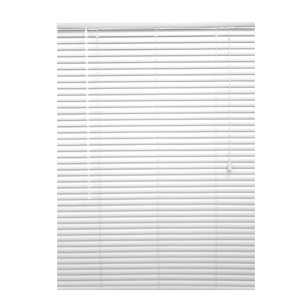 1 3/8-inch Premium Vinyl Blinds in White - 35.5-inch x 72-inch
