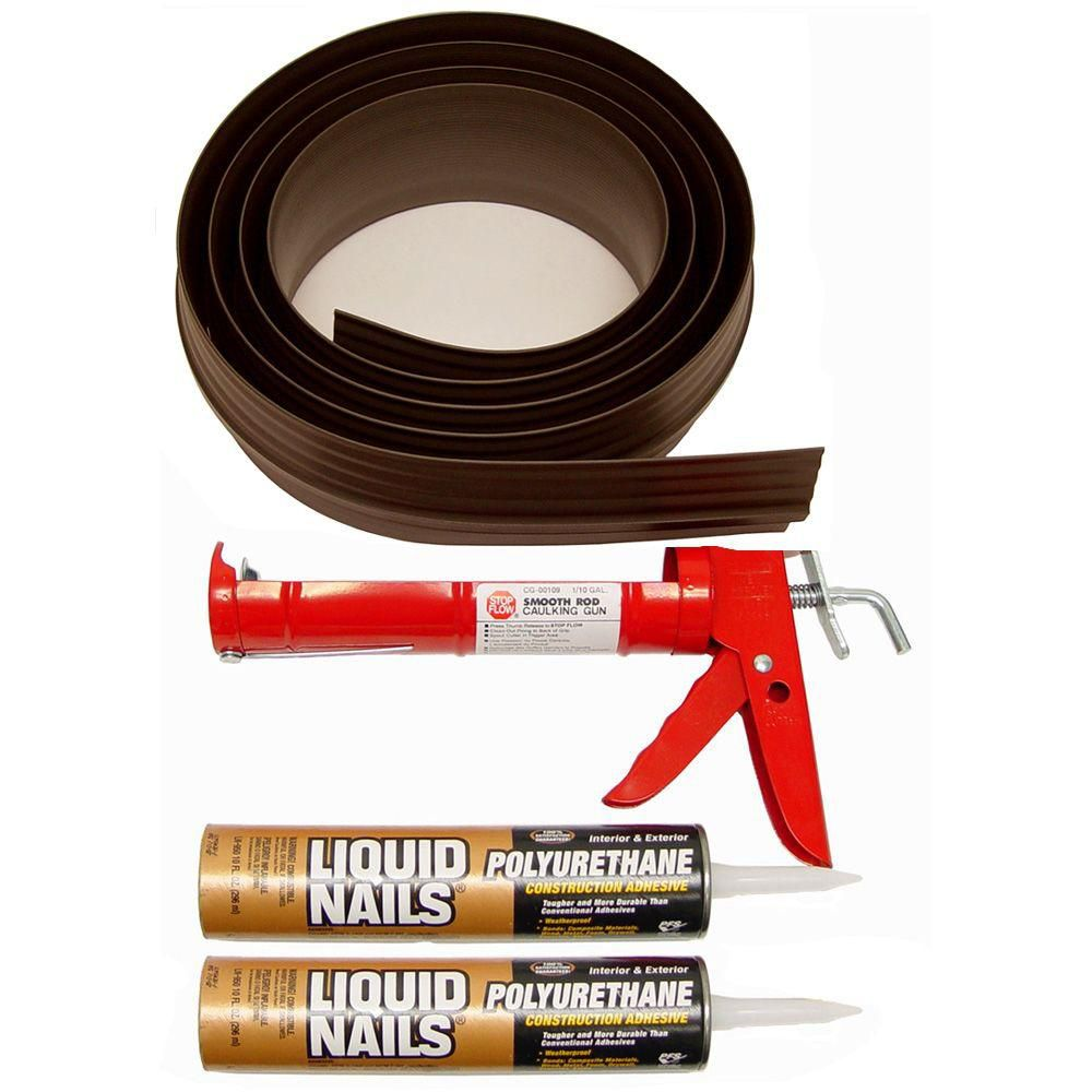 Tsunami seal 18 ft browngarage door threshold kit the for Home depot door threshold