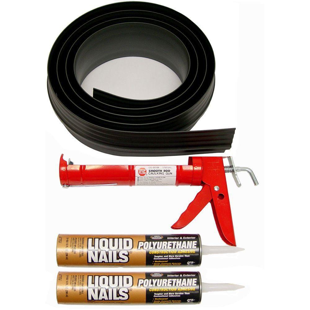 16 ft. BlackGarage Door Threshold Kit